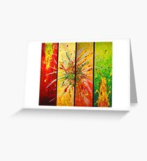 Contemporary Abstract Painting Greeting Card