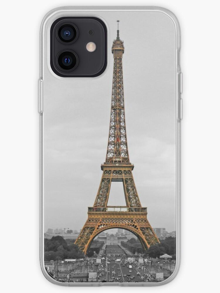 Tour Eiffel Noir Blanc Or Imprimer Paris France Plein | Coque iPhone