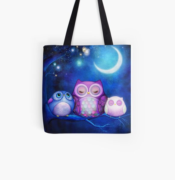 Night Owls  All Over Print Tote Bag