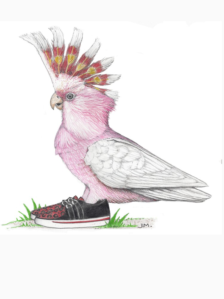Cockatoo in creeper sneakers by JimsBirds
