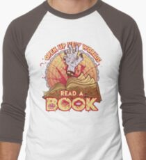 Read a Damn'd Book Men's Baseball ¾ T-Shirt