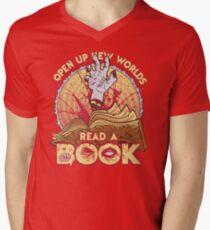 Read a Damn'd Book Men's V-Neck T-Shirt