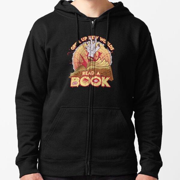 Read a Damn'd Book Zipped Hoodie