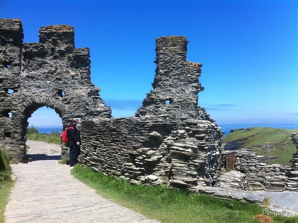 Tintagel Castle; Cornwall by Pengellyn