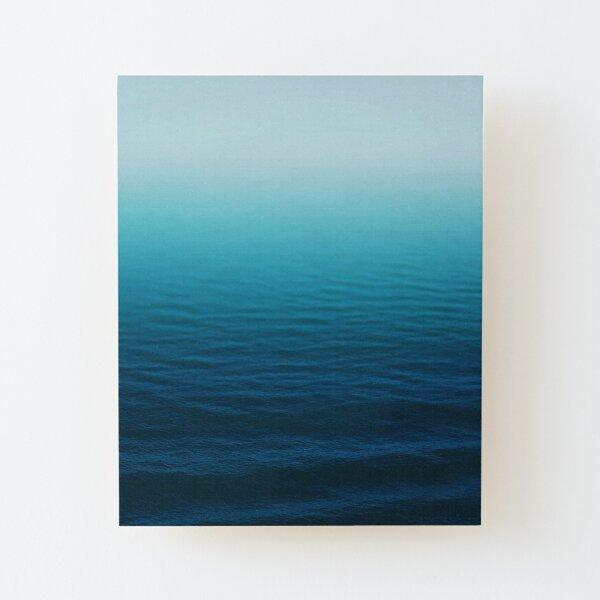 Deep Blue Wood Mounted Print