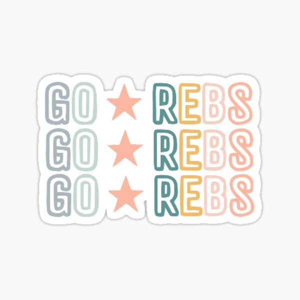 go rebs Sticker