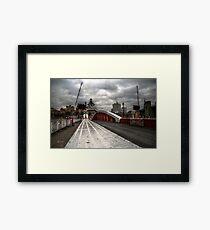 HDR Tyne Swing Bridge Framed Print