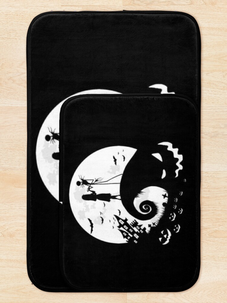 Alternate view of Nightmare before christmas ,Gift for a friend , Gift For Brother  Bath Mat