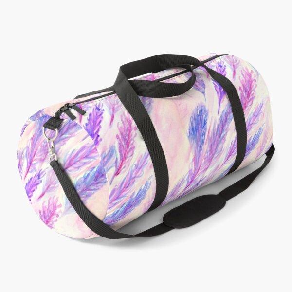 Feathers Of Fushia watercolour Duffle Bag