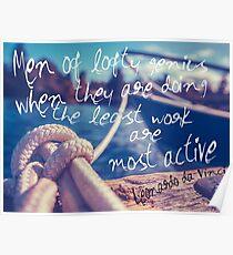 Leonardo Da Vinci Quote Poster Poster