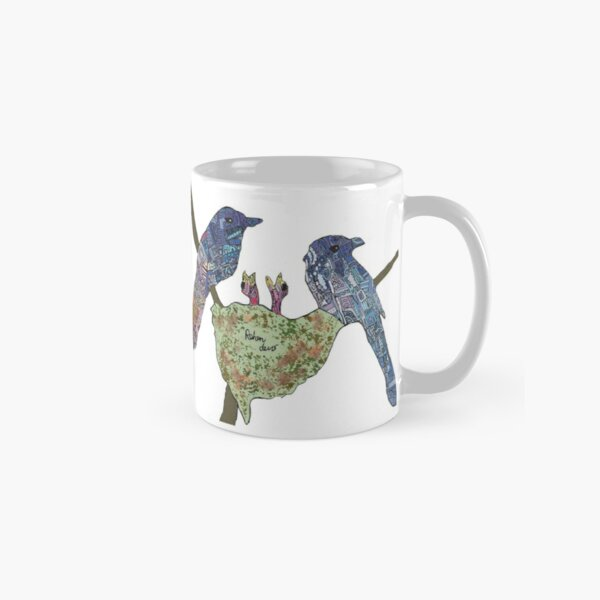 Mum and Dad with Baby Birds Classic Mug