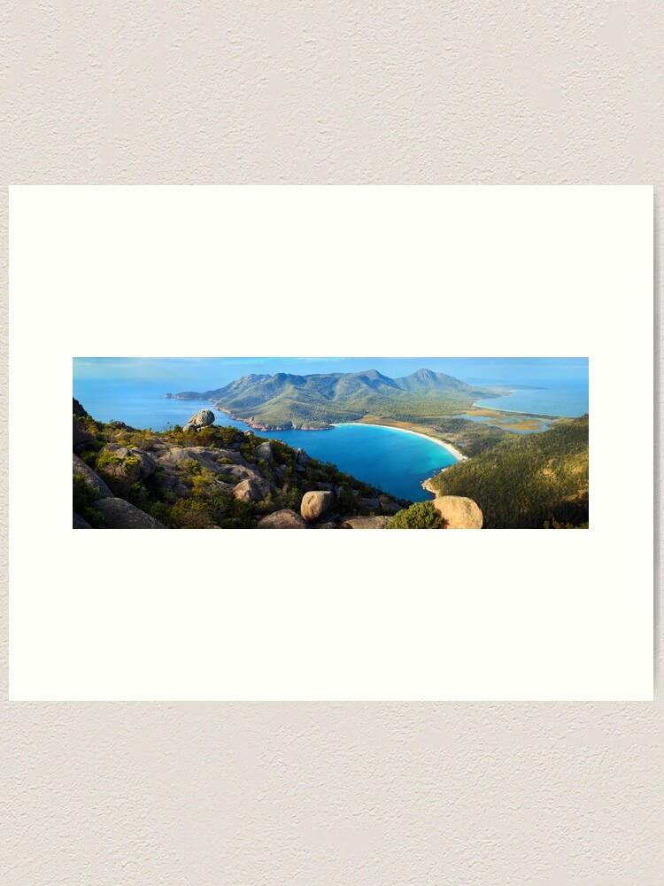 Alternate view of Wineglass Bay, Freycinet National Park, Tasmania Art Print
