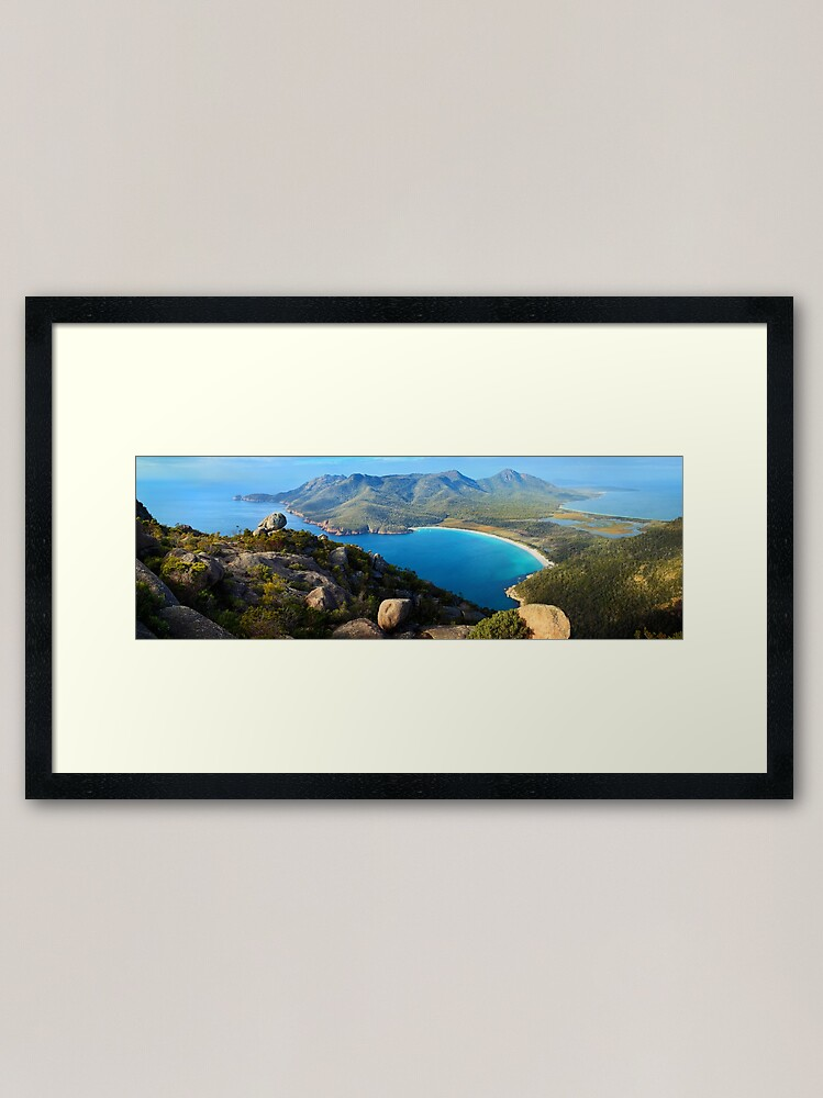 Alternate view of Wineglass Bay, Freycinet National Park, Tasmania Framed Art Print