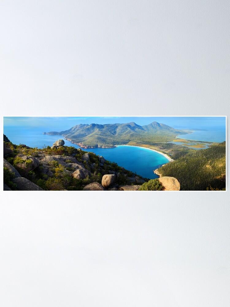Alternate view of Wineglass Bay, Freycinet National Park, Tasmania Poster