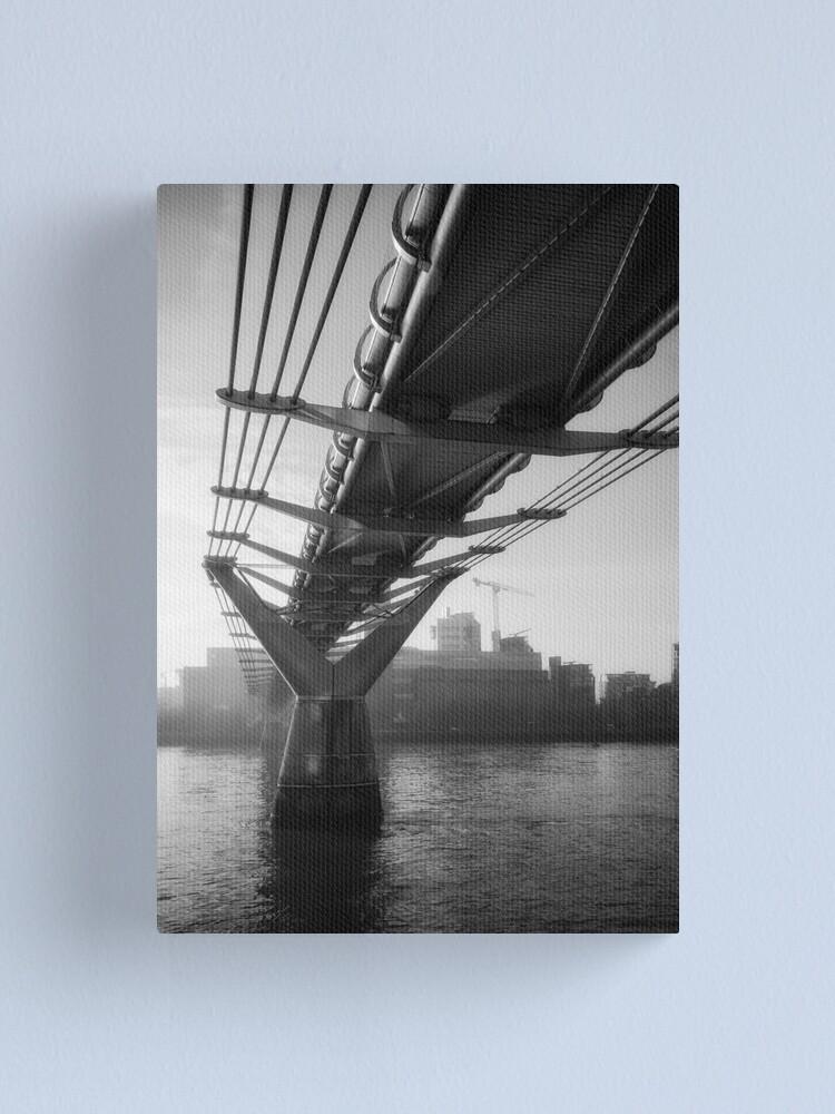 Alternate view of Under the Millennium Bridge Canvas Print