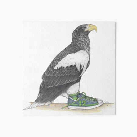 Seahawk in fan shoes Art Board Print