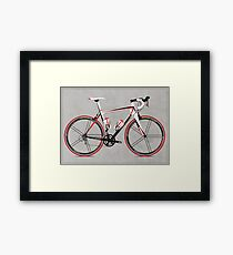 Race Bike Framed Print