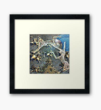 Fractal delight Framed Print
