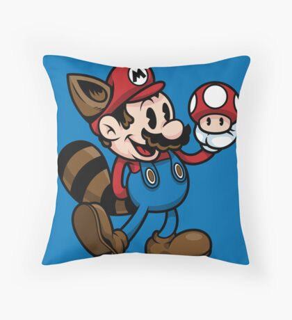 Vintage Plumber Color Throw Pillow