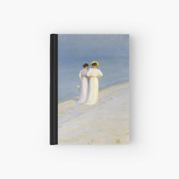 Painting Art, P.S. Krøyer Paintings Artist, Summer Evening on Skagen's Beach. Anna Archer and Marie Kroyer Walking Together, by Peder Severin Kroye Hardcover Journal