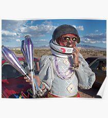 Astronaut Juggler Poster