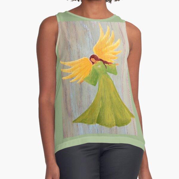 Dancing Angel in a Green Dress Sleeveless Top