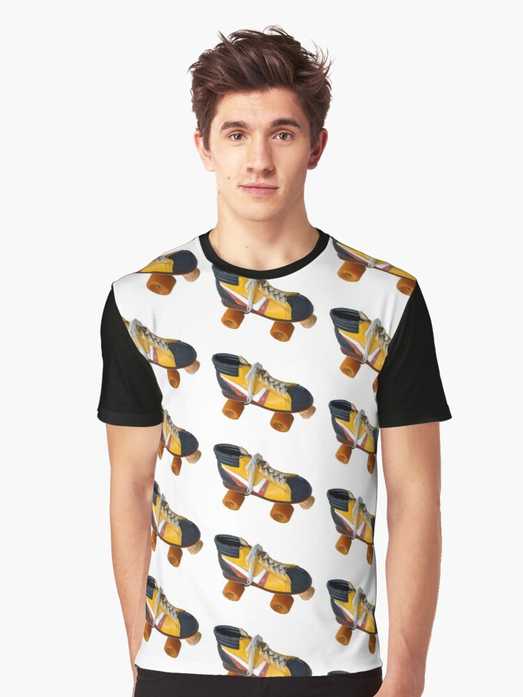 Retro Roller Skate Graphic T-Shirt Front