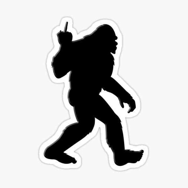 Bigfoot Middle Finger Sticker