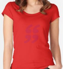 QUOTATION MARK Women's Fitted Scoop T-Shirt