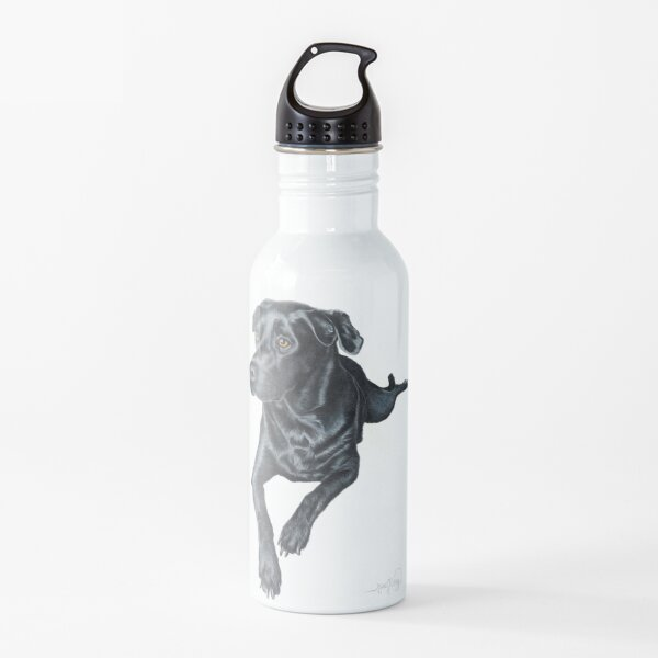 Black Labrador Retriever Dog  Water Bottle