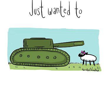 Tank ewe by twisteddoodles