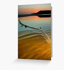 Great Water Serpent Manifests at Wingam Inlet Greeting Card
