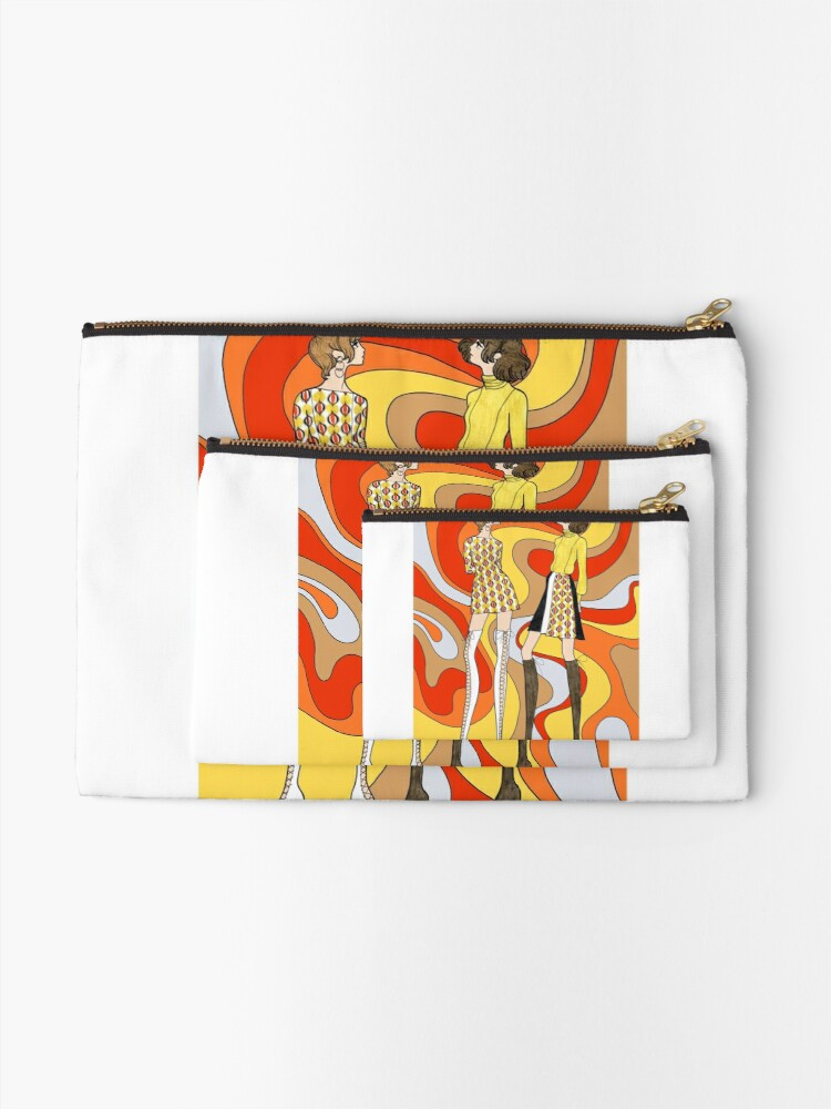 Alternate view of Dreamy Groove Zipper Pouch