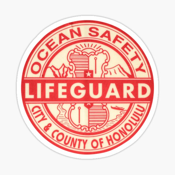 Hawaii Lifeguard Logo Sticker