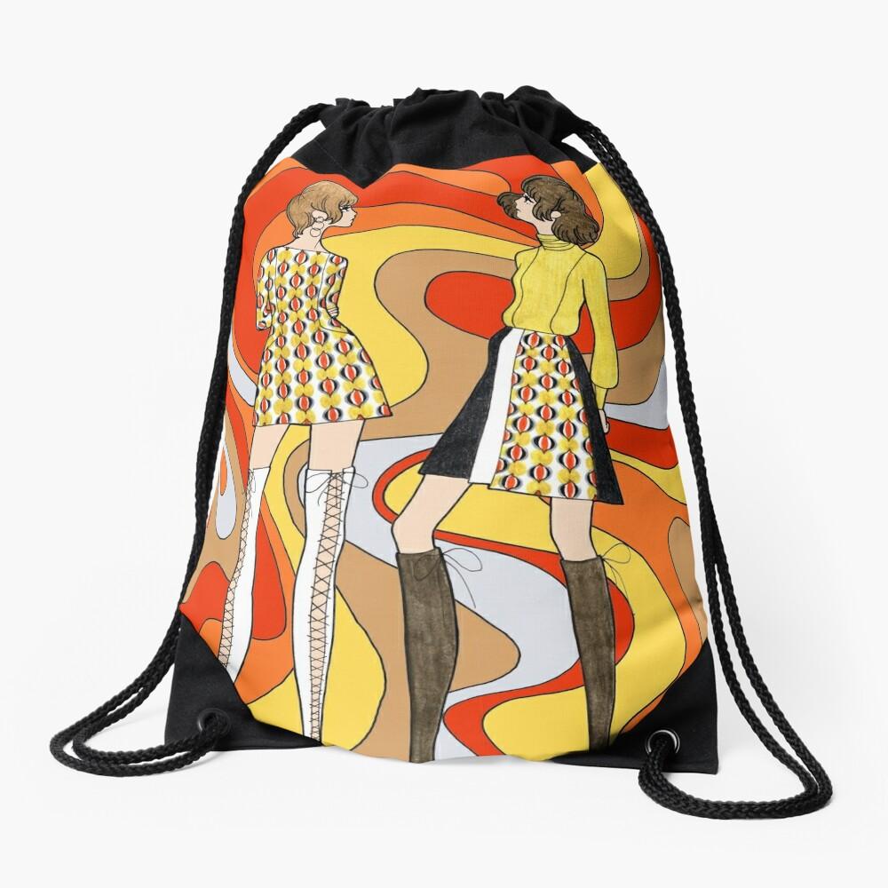 Dreamy Groove Drawstring Bag
