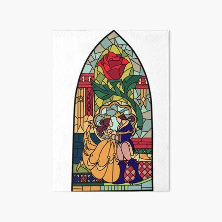 Beauty and the Beast Glass Art Board Print