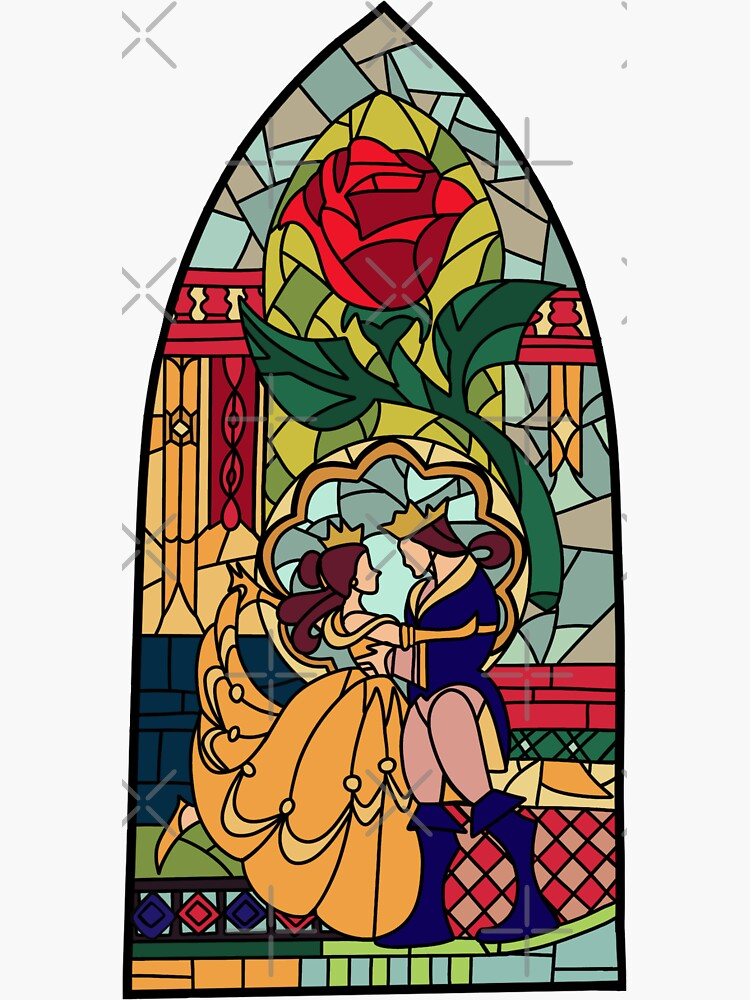 Beauty and the Beast Glass by marygodmother