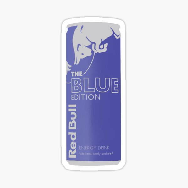 blue edition redbull can Sticker