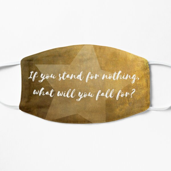 Hamilton Quote Flat Mask