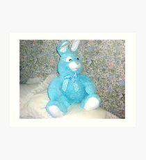 Blue Rabbit - Easter Gift Art Print