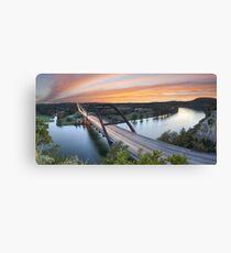 Pennybacker Bridge Panorama, Austin, Texas 3 Canvas Print