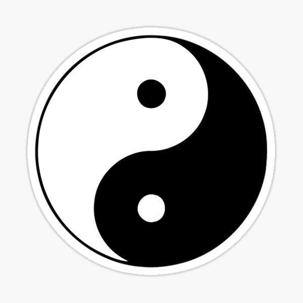 Yin Yang Pegatina