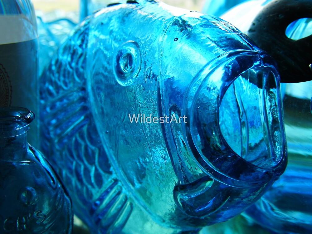 Big Blue Fishy by WildestArt