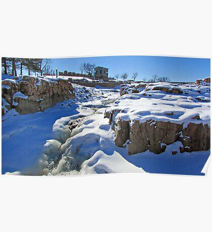 Snowy Falls Poster