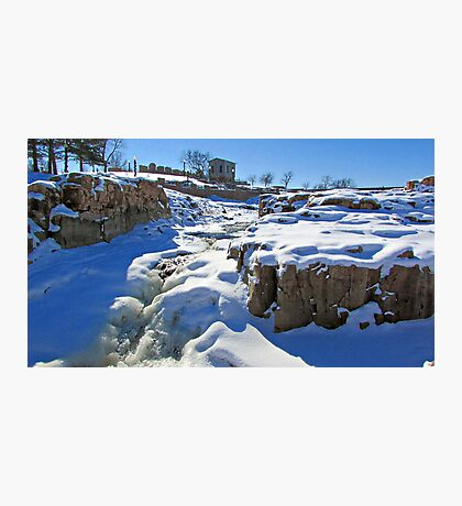 Snowy Falls Photographic Print