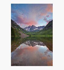 Maroon Bells Sunset near Aspen, Colorado Photographic Print