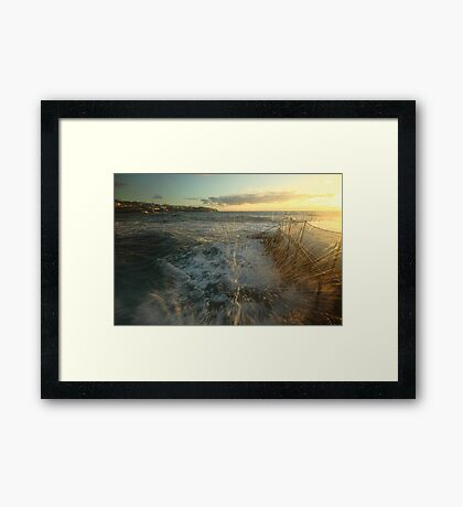 Sunrise Splash Framed Print