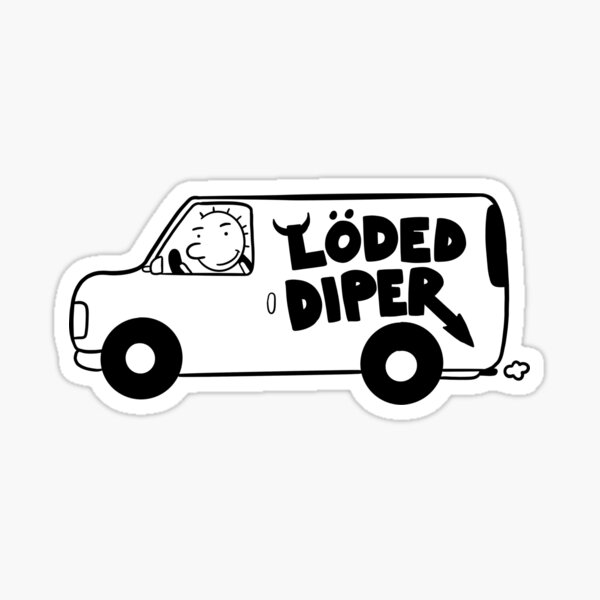 Loded Diper Stickers Redbubble