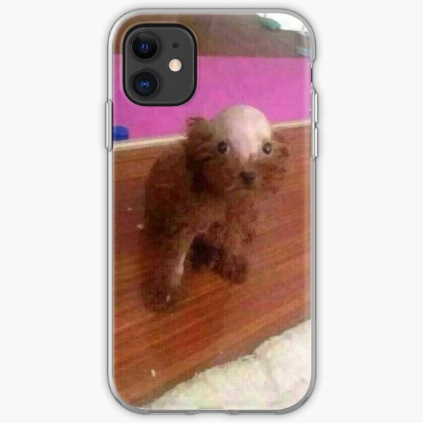 Meme - Bald Headed Dog iPhone Soft Case