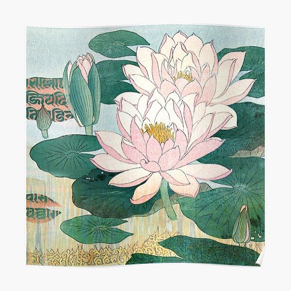 Sacred Lotus Flower Poster